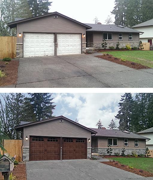 Garage door pictures before and after floors doors for Garage before and after photos