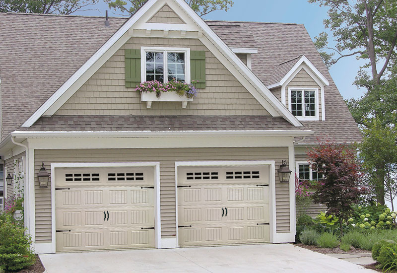 Carriage style garage doors design 2017 2018 best cars for Carriage style garage doors prices